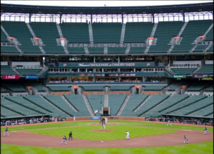 game at camden yards with no one in stands