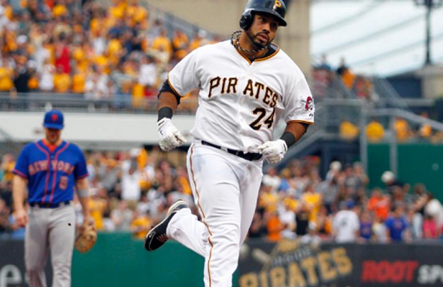 Pedro Alvarez trots the bases after hitting a home run.
