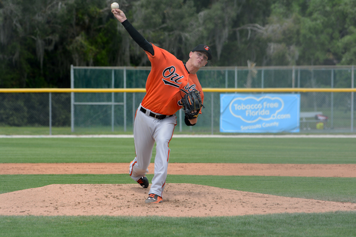 Parker Bridewell pitches.