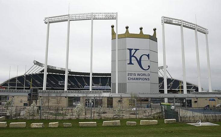 Kansas City's Kauffman Stadium.