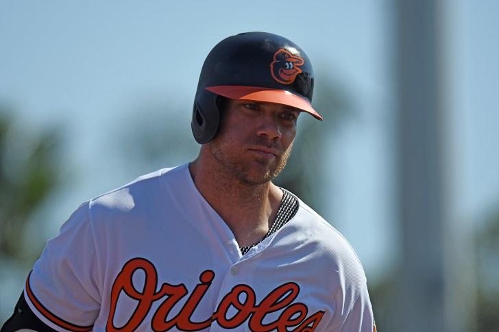 Chris Davis trots around the bases.