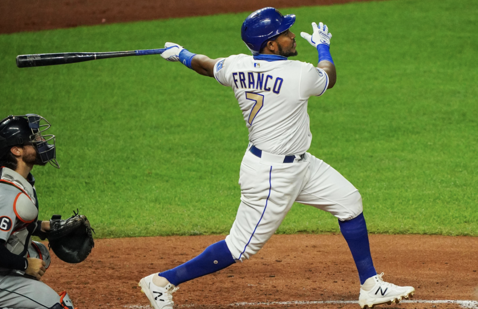 Maikel Franco finishes his swing