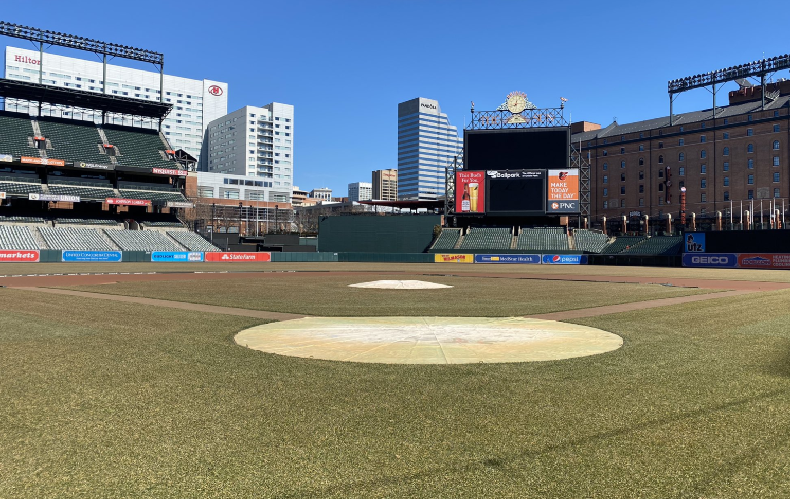 Oriole Park at Camden Yards infield