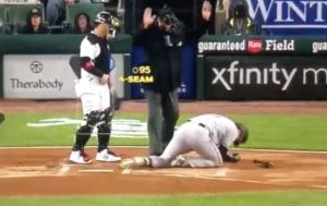 Trey Mancini hit by pitch
