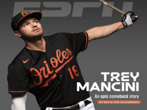 Trey Mancini on cover of ESPN the Mag